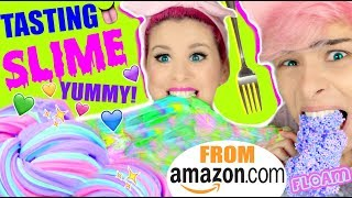 TASTING & TESTING Amazon Slime! | Fluffy Unicorn Slime, Rainbow Slime, Magnetic Putty! by GlitterForever17