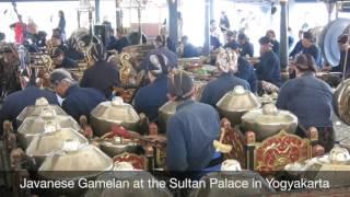 Javanese Gamelan at the Sultan Palace in Yogyakarta.