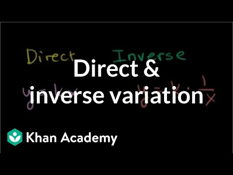 how to solve direct and inverse variation