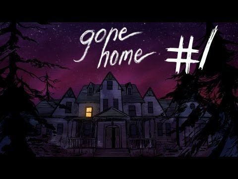 Gone Home - Part 1 | ANYBODY HOME? | Interactive Story Exploration Game | Gameplay/Commentary (видео)