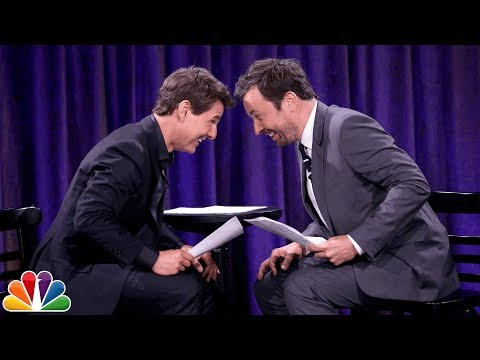 Tom Cruise and Jimmy Fallon Act Out Scenes Written by