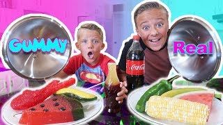 Video GUMMY FOOD vs REAL FOOD Switch Up Challenge! Kids react to trying gummi candy and real food MP3, 3GP, MP4, WEBM, AVI, FLV Mei 2017