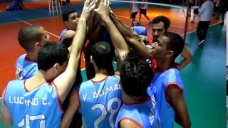 A equipe de vôlei masculino da Uerj em mais uma atuação no Campeonato universitário.