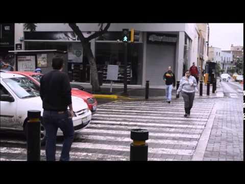 Ein mutiger Fußgänger erzieht die Autofahrer!