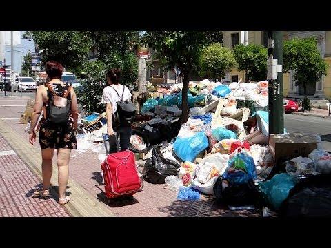 «Βουνά» σκουπιδιών- Συνεχίζεται η κινητοποίηση της ΠΟΕ-ΟΤΑ