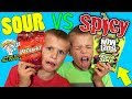<b>Twins</b> SPICY vs SOUR Challenge!