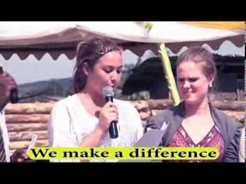 A Sponsor from Strand School in Norway giving a speech