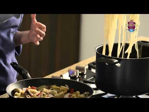 Video - Espaguettis con alcachofa, tomates secos y Pastas Verona