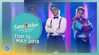Video TOP 10: Most watched in May 2018 - Eurovision Song Contest MP3, 3GP, MP4, WEBM, AVI, FLV Juni 2018