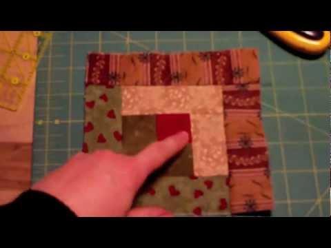 tutorial: come realizzare un log cabin - coperta per carrozzina e letto