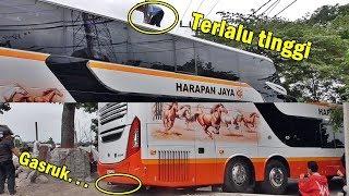 Video Salut Sama Crew | Susahnya Double Deckker Harapan Jaya Masuk Agen Baru Blitar MP3, 3GP, MP4, WEBM, AVI, FLV Januari 2019