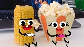 Cute Food Doodles Compilation 🌽🍿 #07