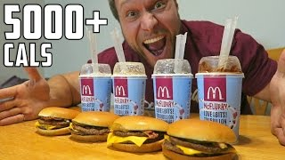 Video McDonald's Burger McFlurry Eating Challenge (5,000+ Calories) MP3, 3GP, MP4, WEBM, AVI, FLV Juli 2018