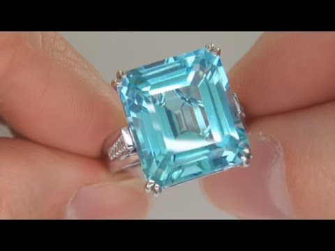 London Blue Topaz Ring from $2 Million Dollar Jewelry Collection
