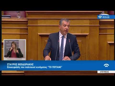 """Σ.Θεοδωράκης(Επικεφαλής """"ΤΟ ΠΟΤΑΜΙ"""")(Συζήτηση για τη διενέργεια προκαταρκτικής εξέτασης)(08/03/2018)"""