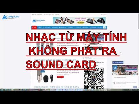 Hướng Dẫn Mở Nhạc Từ Laptop, PC Ra Sound Card XOX K, HF  Pro Khi Không Phát Âm Thanh