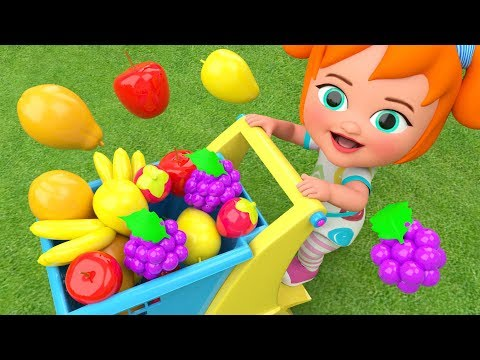 Little Baby Girl Fun Learning Colors & Fruits Names for Children Garden Fruits 3D Kids Educational (видео)