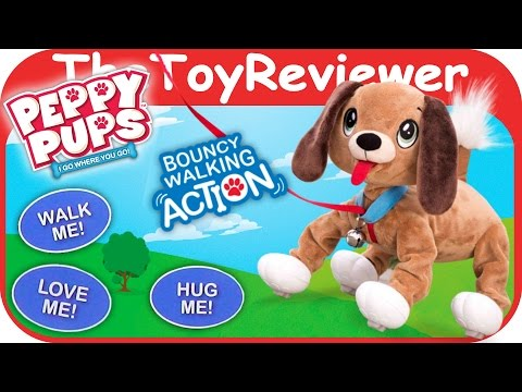 Peppy Pups Walks and Runs Huggable Dog TPF Toys Unboxing Toy Review by TheToyReviewer