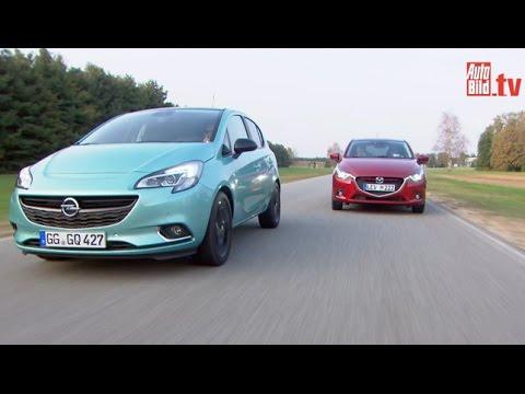 Opel corsa и mazda 2 фотография