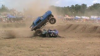 Jim Doak  putting on one hell of a freestyle show at Maximum Power Park in Poland NY in his Mustang BEYOND THE LAW!!