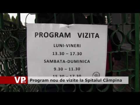 Program nou de vizite la Spitalul Câmpina