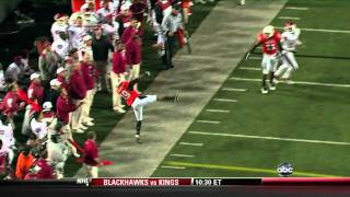 Crazy Oklahoma State Interception vs. Oklahoma - November 27, 2010