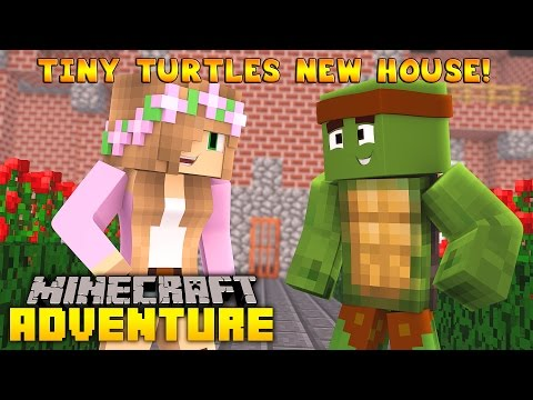 Minecraft - Little Kelly Adventures : Visiting Tiny Turtles New House!