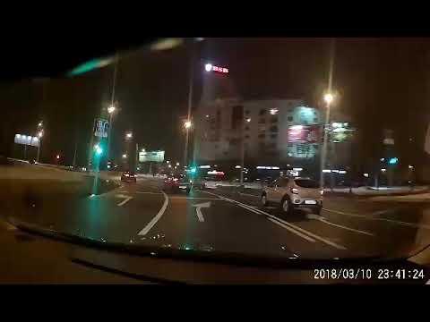 Авария в Минске на площади Бангалор