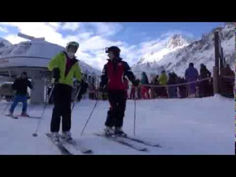 1ères Traces Val d'Isère - ouverture station