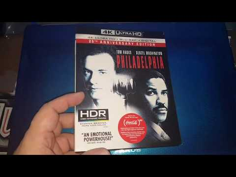 PHILADELPHIA 4K ULTRA HD BLU-RAY UNBOXING & MENU