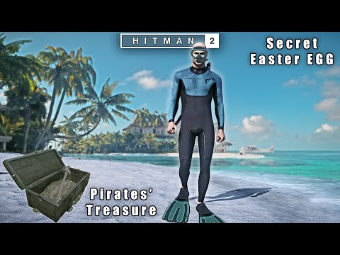 HITMAN 2 - Haven Island Pirates GOLD Treasure Secret Chest | Scuba Diver Exit Easter EGG