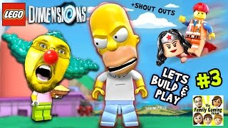Lets Build & Play LEGO Dimensions #3: MONSTER HOMER in Springfield  (Just Let Me Build The Car Man!)