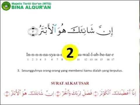 Tafsir Al Quran Surah Al Kautsar Alquranmulia
