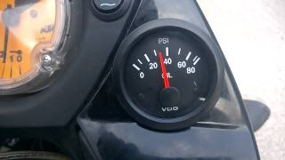 6. First start after adding an oil pressure gauge (KTM 950 Adventure)