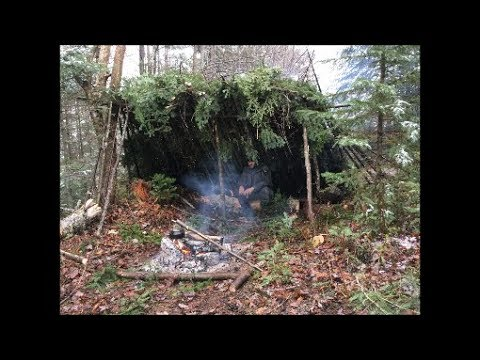Bushcraft Forest Survival Shelter