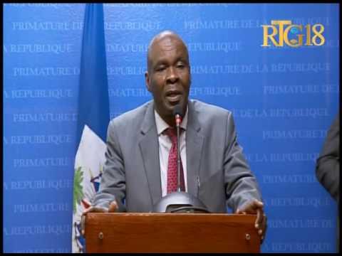 Gouvernement Haïtien / Conférence mardi 18 octobre 2016