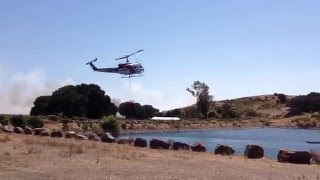 Cal Fire helicopter fighting fire on GoPro