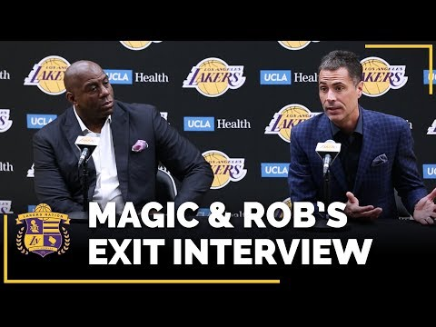 Video: Lakers Exit Interviews 2018: Earvin Magic Johnson & Rob Pelinka (With Time Stamps!)