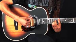 Larrivee Vintage OM available at heartbreakerguitars.com. Heartbreaker Guitars is authorized dealer of Larrivee instruments.