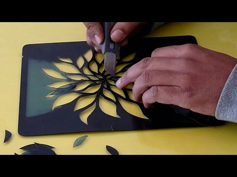 Cutart Tutorial - How to do Paper Embossing with Stencil