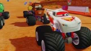 CARS ALIVE ! Silver Lightning McQueen - Disney Infinity Cars gameplay
