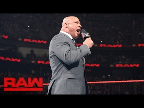 Kurt Angle reveals how Universal Champion's challenger will be determined: Raw, May 15, 2017