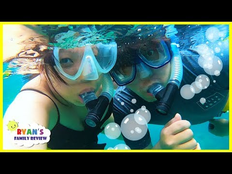 Snorkeling Underwater For The First Time In Hawaii With Ryan's Family Review!!!