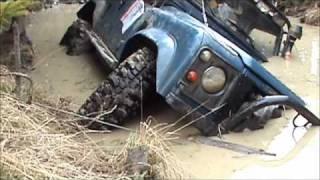 'Aquaman's' Land Rover capsizes in 4x4 Challenge (Poland)
