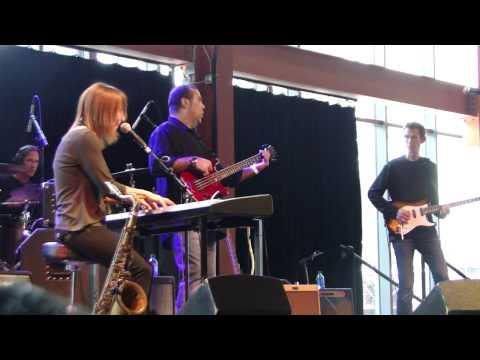 Deanna Bogart plays at the Blast Furnace Blues Festival