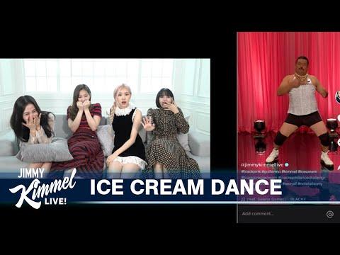 BLACKPINK Teaches Guillermo the Ice Cream Dance