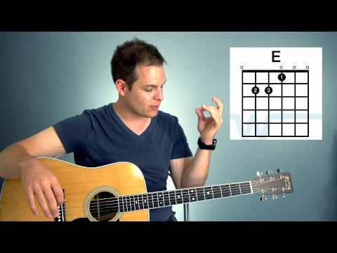 Guitar Lesson - How To Play Chords In The Key Of A (A, E, D, F#m)
