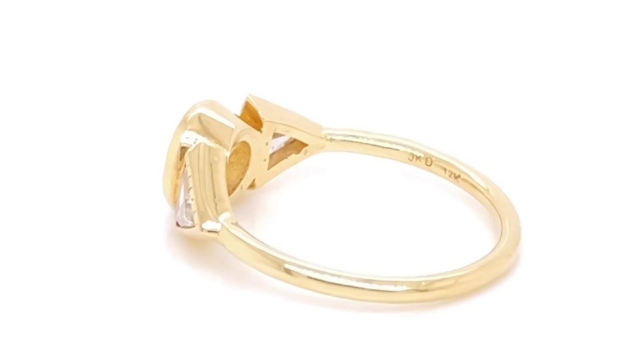Rose Cut Diamond Spear Engagement Ring