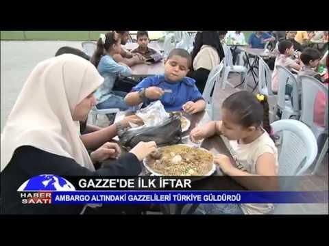 ''Gazze'de ilk iftar''