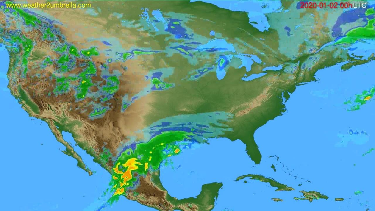 Radar forecast USA & Canada // modelrun: 12h UTC 2020-01-01